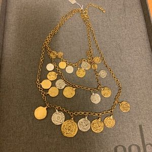 Cabi medallion tier necklace